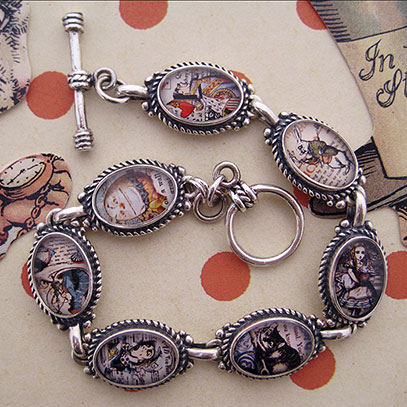 Alice in Wonderland Characters Bracelet