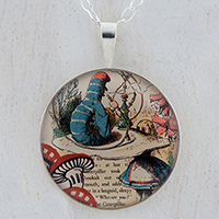 Alice and The Caterpillar Sterling Pendant