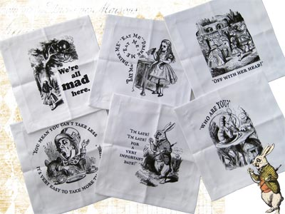 Alice in Wonderland Cocktail Napkins