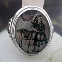 Alice and The Fawn Cameo Style Ring