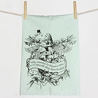 Alice Drink Me Flamingo Wonderland Flour Sack Towel