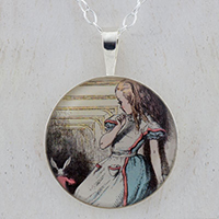 Alice Looking Sterling Pendant