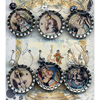 Alice in Wonderland Tenniel Drink Charms