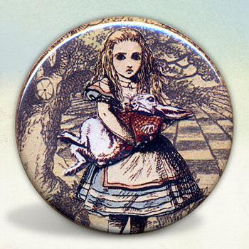 Alice Holding The White Rabbit