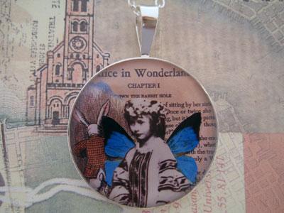 Alice Liddell Butterfly Sterling Pendant