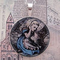 Alice Covering Her Ears Sterling Pendant