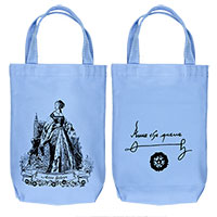Anne Boleyn Organic Cotton Liquor and Wine Bottle Tote Bag