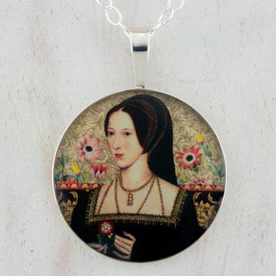 Anne Boleyn Tudors Sterling Pendant