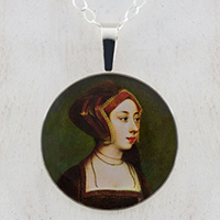 Anne Boleyn Gable Hood Sterling Pendant
