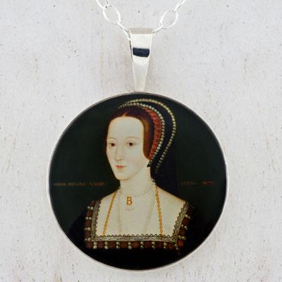 Anne Boleyn Portrait Sterling Pendant