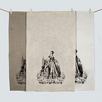 Anne Boleyn 100% linen screen printed tea towel