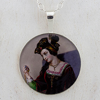 Anne Boleyn Gazing Sterling Pendant