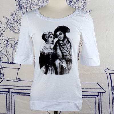 Anne Boleyn & Henry VIII Elbow Length T-Shirt