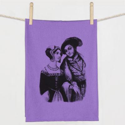 Anne Boleyn & Henry VIII Flour Sack Towel
