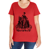 Anne Boleyn Curvy Fit Plus Size Tee V-neck Scoop and Tank Style