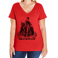 Anne Boleyn Curvy Fit Tee V-neck Scoop and Tank Style