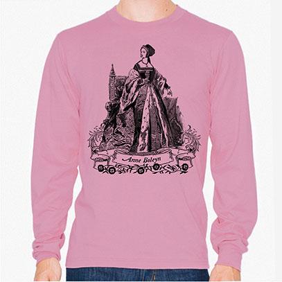 Anne Boleyn Men's or Unisex Organic Long Sleeve T-shirt