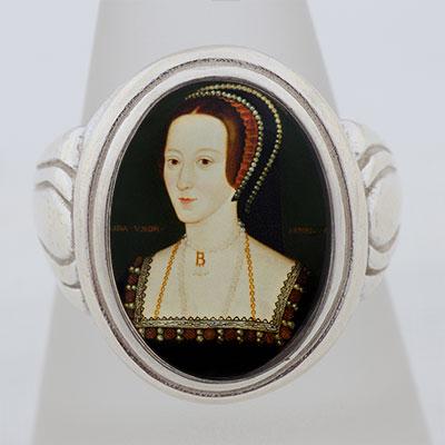 Anne Boleyn Portrait Cameo Style Ring