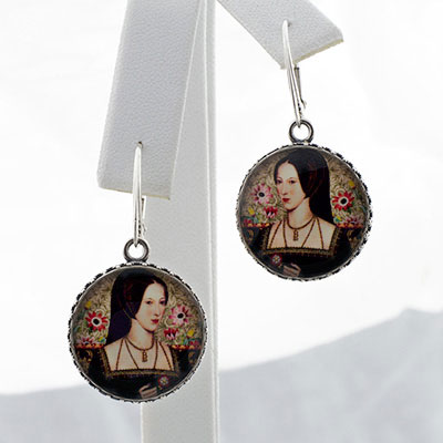 Anne Boleyn Round Drop Earrings