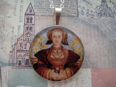 Anne of Cleves Tudors Sterling Pendant