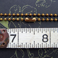 {No. 10} Antique Brown 2.4mm Ball Chain