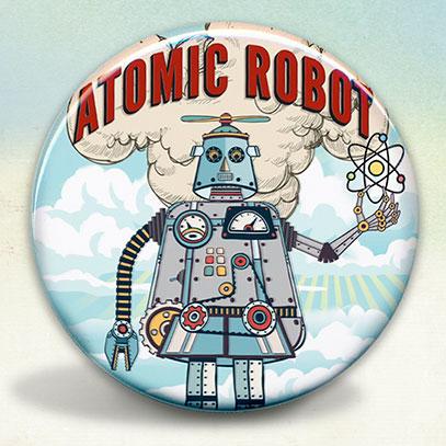 Atomic Robot Man Retro Style