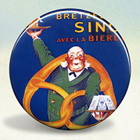 Bretzles Singer Beer and Pretzel Illustration Poster