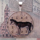 Bingo Dog Sterling Pendant