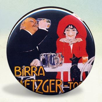 Birra Metzger Torino Beer  Illustration Poster Romantic