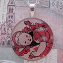 Sleeping Dorothy Sterling Pendant