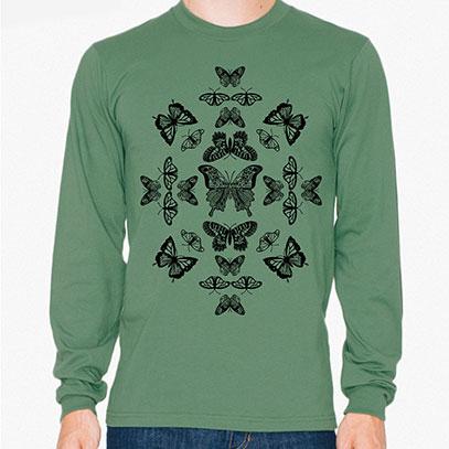 Butterfly Effect Men's or Unisex Organic Long Sleeve T-shirt