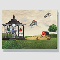 Carousel Americana Greeting Card Large