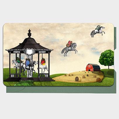 Carousel Americana Mini Gift Cards