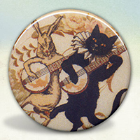 Cat and Rabbit Banjo Players