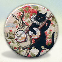 Black Cat and Rabbit Banjo Players