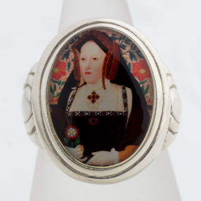Catherine of Aragon Tudors Cameo Style Ring