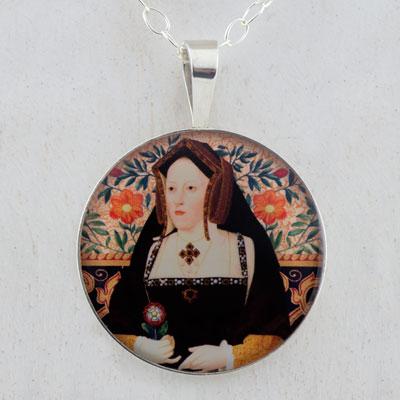 Catherine of Aragon Tudors Sterling Pendant