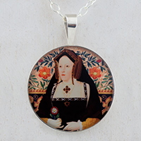 Catherine of Aragon Tudors Sterling Pendant