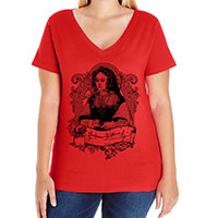 Catherine of Aragon Curvy Fit Tee V-neck Scoop and Tank Style