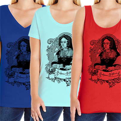 Catherine of Aragon Curvy Fit Plus Size Tee V-neck Scoop and Tank Style