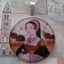 Catherine Howard Tudors Sterling Pendant