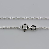 {No. 7} Sterling chain 1.4mm flat oval