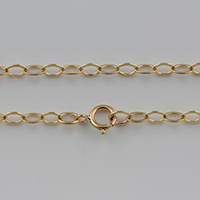 {No. 3} 14/20 Gold filled 2.7mm chain flat oval