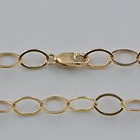 {No. 6} Gold Filled 6.1mm flat oval