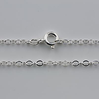 {No.1} Sterling chain 2.3mm flat oval