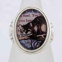Cheshire Cat Cameo Style Ring