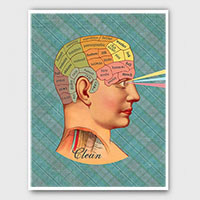Clean Mind Phrenology Style