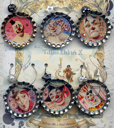 Clown Drink Charms