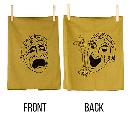 Comedy Tragedy Theatre Masks  Flour Sack Towel