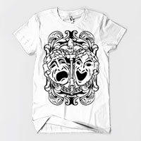 Comedy Tragedy Theatre Masks Men's or Unisex T-shirt